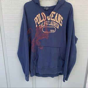 •- Polo Jeans Distressed Hoodie /Sweatshirt